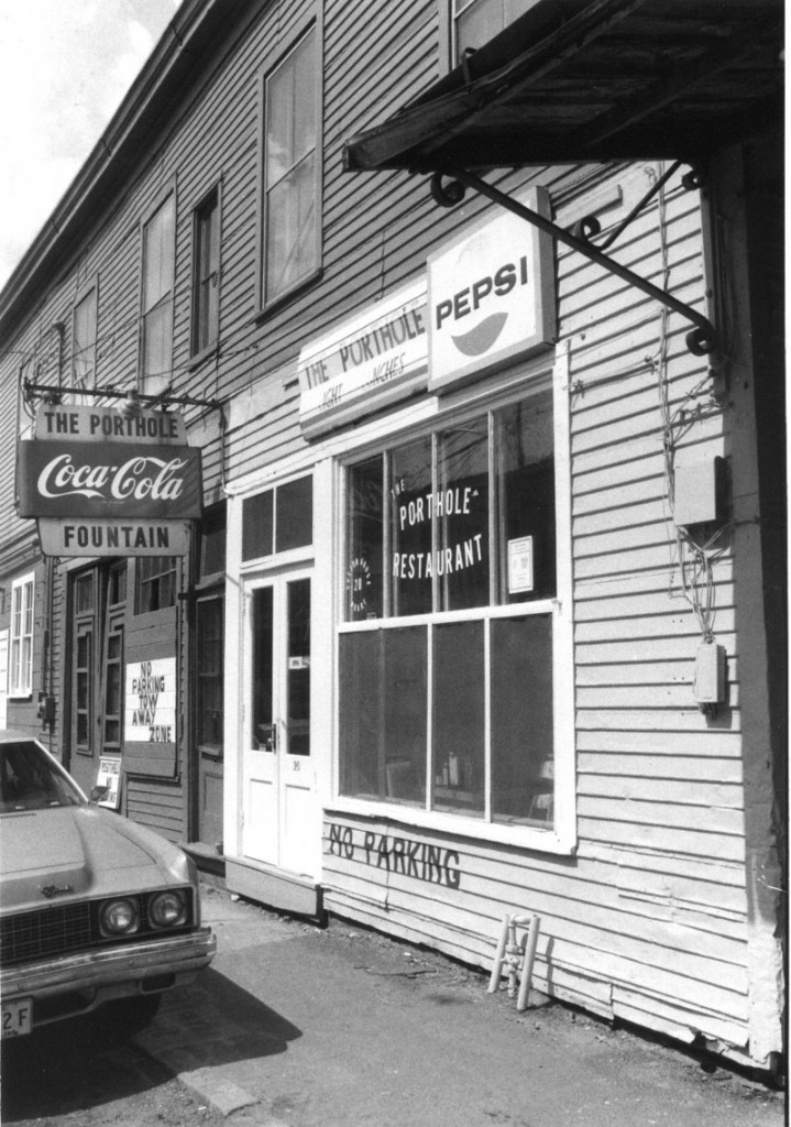 A 1984 view of the Porthole Restaurant.