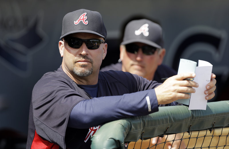 """Fredi Gonzalez, who managed the Sea Dogs in 1997, was """"the perfect guy at the right time"""" to manage the Braves, according to Atlanta GM Frank Wren."""
