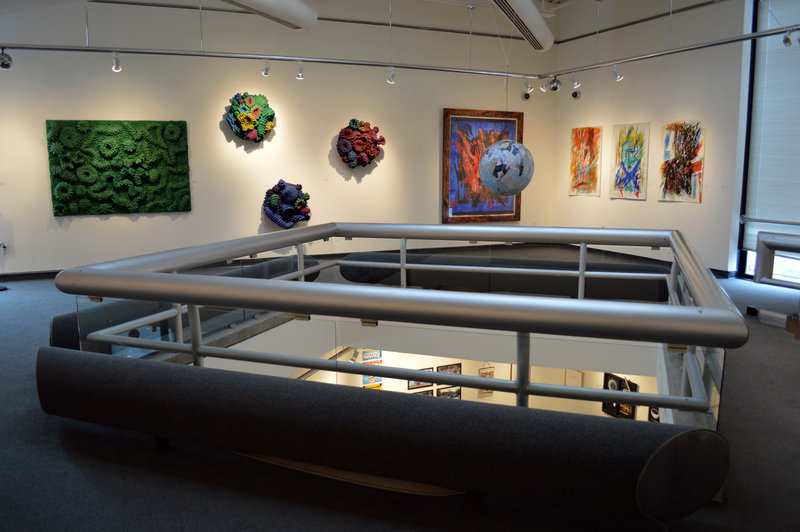 Melita Westerlund's coral reef wall reliefs and paintings by Abby Shahn.