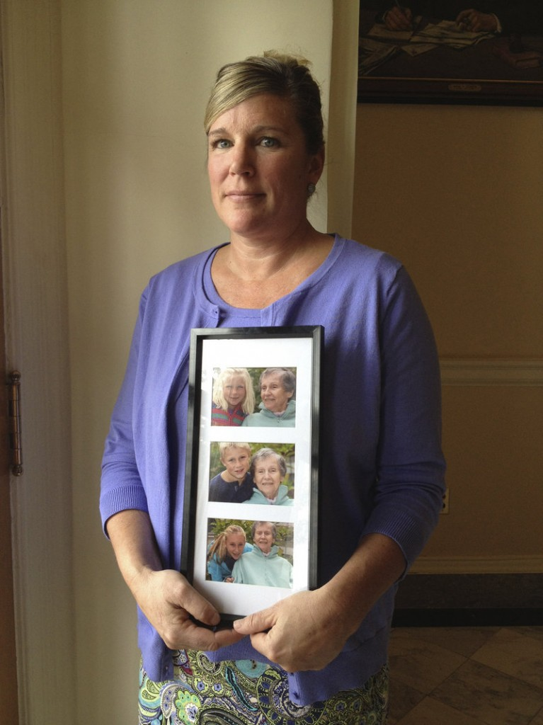 """Sally Tartre of Kennebunk, whose late mother had Alzheimer's disease, spoke March 14 at a State House news conference on Maine's first strategic plan to address dementia-related issues. The subject """"really hits home for my family,"""" says a reader whose 86-year-old father died of Alzheimer's/dementia March 3."""
