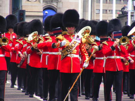 The Band of the Scots Guards will play Sunday at the Cumberland County Civic Center.
