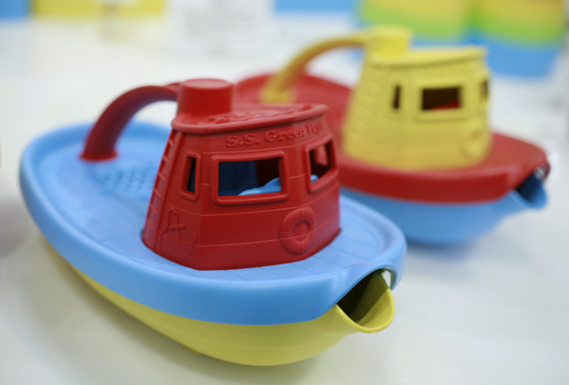 Toy tugboats made from recycled milk cartons that are free of BPA and phthalates are seen at the International Toy Fair in New York in 2010. Readers support a proposal to identify everyday products that contain phthalates, BPA and other toxic chemicals and remove the chemicals from these products.