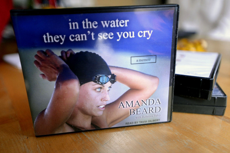 """Among the books recorded by Tavia Gilbert is """"In the Water They Can't See You Cry"""" by Olympic swimmer Amanda Beard."""