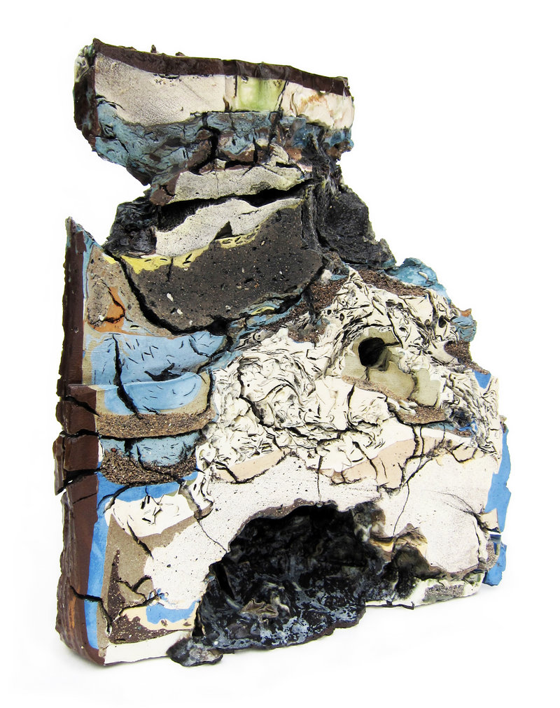 """""""Landfill No. 9: Northeast Cross Section,"""" various clays, glazes and stains; 50 percent recycled."""