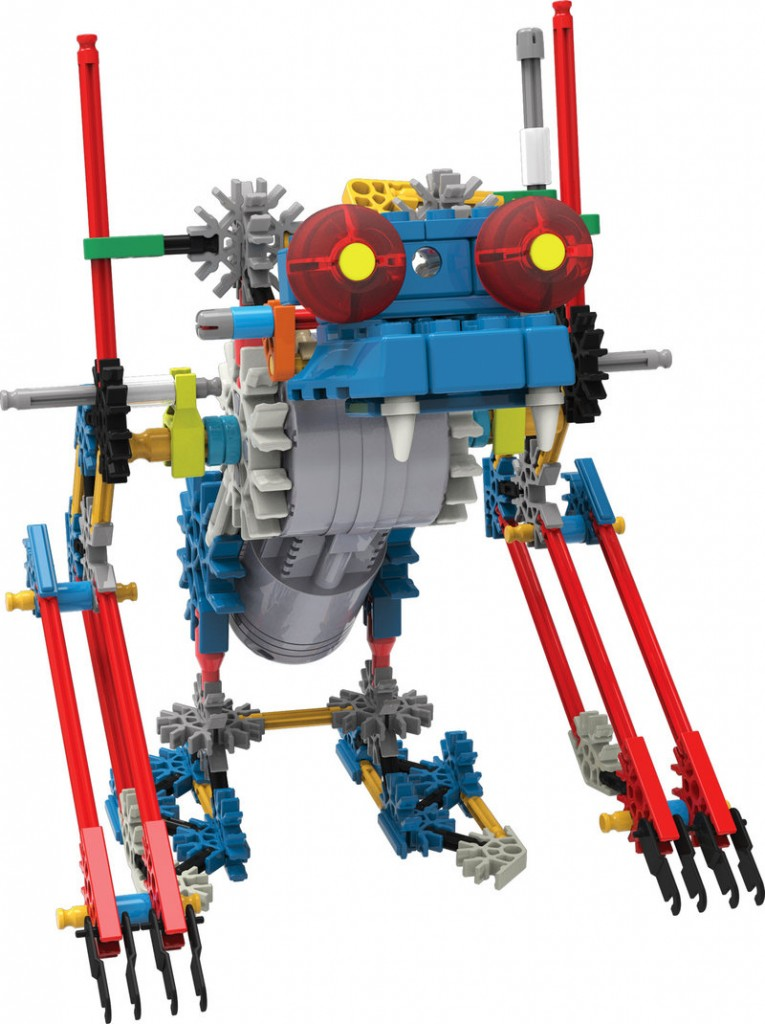The K'NEX Robo Creature can be built individually then attached to make even more elaborate creatures.