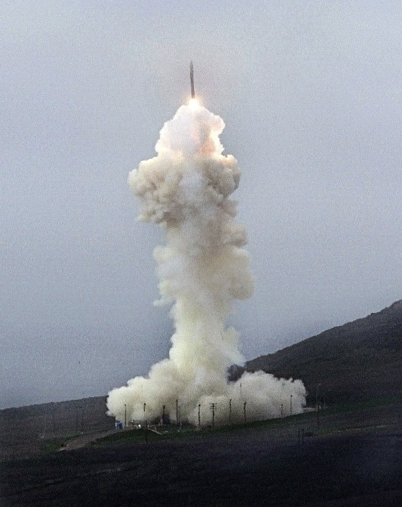 The Missile Defense Agency conducts a flight test of a ground-based interceptor from Vandenberg Air Force Base near Lompoc, Calif., on Jan. 26.