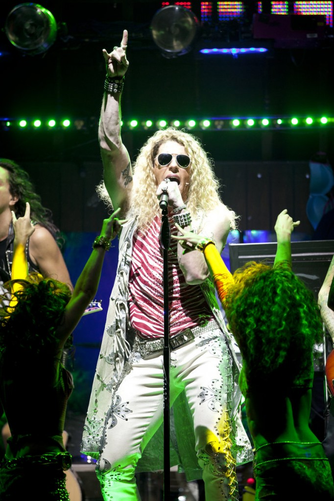 "Matt Nolan as Stacee Jaxx in ""Rock of Ages."""