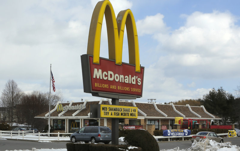 McDonald's on Route 1 in Falmouth, which reflects the company's template.