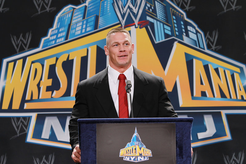 Going to a NASCAR race with WWE personality John Cena is among the charity auction items.