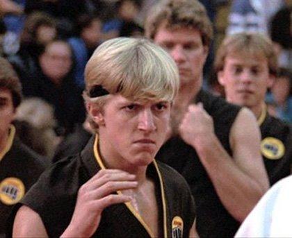 """William Zabka in """"The Karate Kid."""""""
