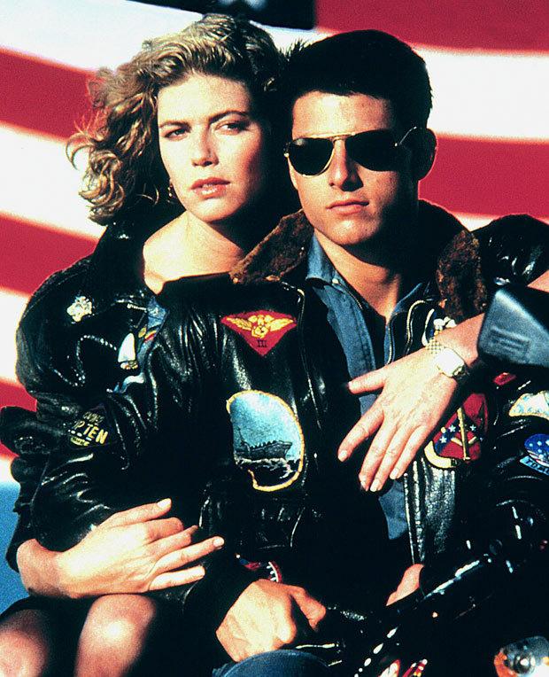 "Kelly McGillis and Tom Cruise in ""Top Gun"""