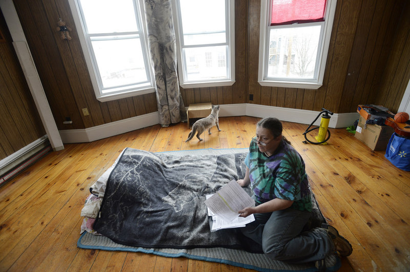 Katrina LaCourse, 47, may lose her rental voucher provided by Lewiston's general assistance program because the city said she misrepresented her financial situation and did not report a roommate.