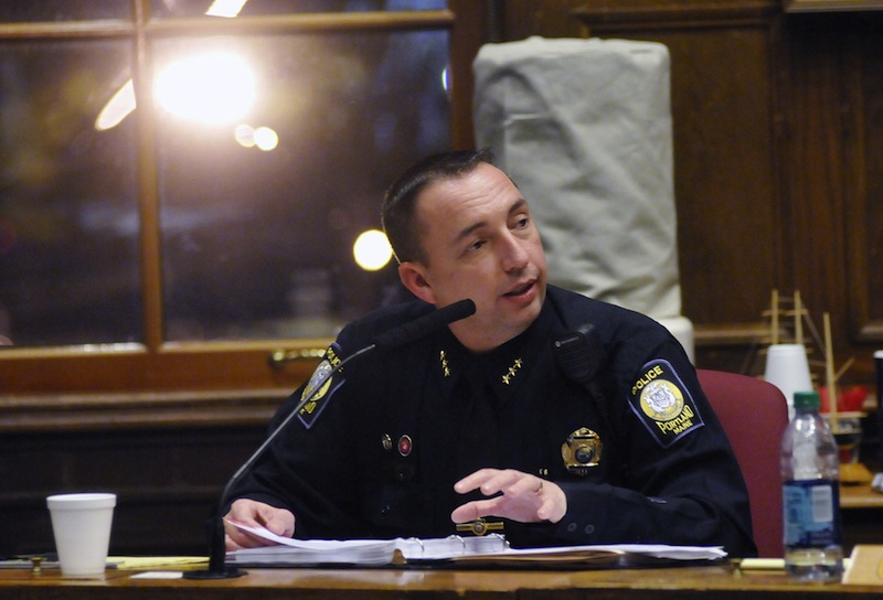 Portland Police Chief Michael Sauschuck was among many law-enforcement officers from across the country making their case Tuesday, April 9, 2013 in Washington D.C. for stronger gun laws.