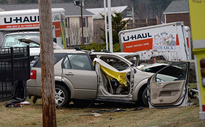 One of the vehicles involved in a fatal crash on Route 4 in Berwick last Wednesday.