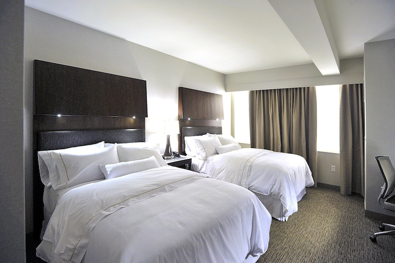 This is a model room – off-site at the General Manager's office complex several blocks away – showing what rooms will be like at Westin Harborview, formerly known as the Eastland Hotel.
