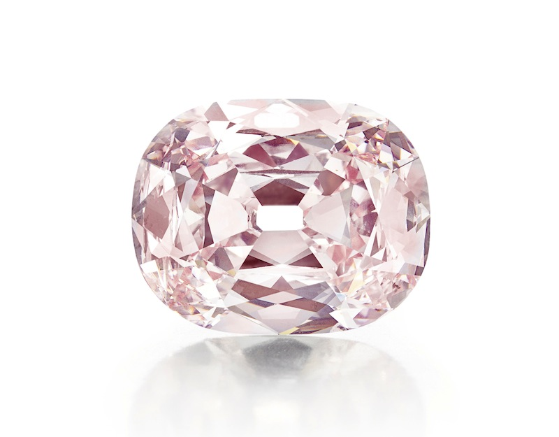 This undated photo provided by Christie's shows a rare pink diamond, nicknamed the Princie Diamond, which has sold for $39.3 million at auction in New York City. The price for the 34.65-carat diamond that sold to an anonymous buyer at Christie's on Tuesday, April 16, 2013, was the second-highest ever for a jewel sold at auction. (AP Photo/Christie's)