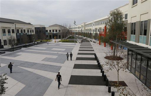 The Facebook campus in Menlo Park, Calif.: