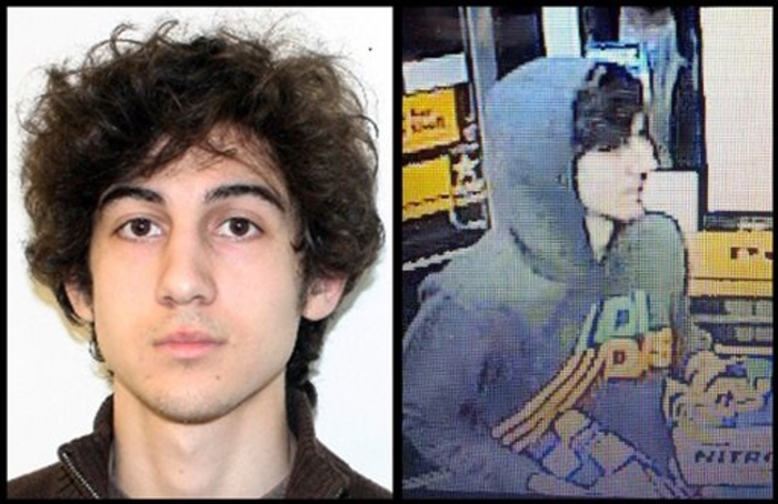 This combination of photos provided by police agencies show Dzhokhar Tsarnaev, who was charged Monday in last week's Boston Marathon bombings.