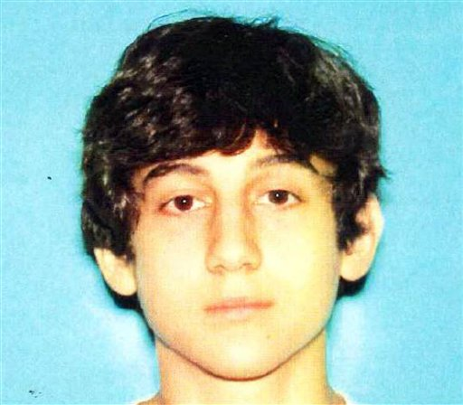 This image provided by the Boston Regional Intelligence Center shows an undated photo of Dzhokhar A. Tsarnaev, who is wanted in the Boston Marathon bombings.