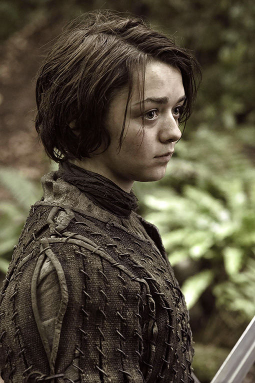 Maisie Williams plays the rough-and-tumble Arya Stark.
