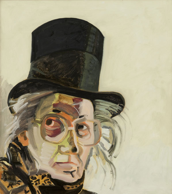 """""""Self-Portrait,"""" 1989, by Lois Dodd, from the retrospective of her work at the Portland Museum of Art. The exhibition ends Sunday."""