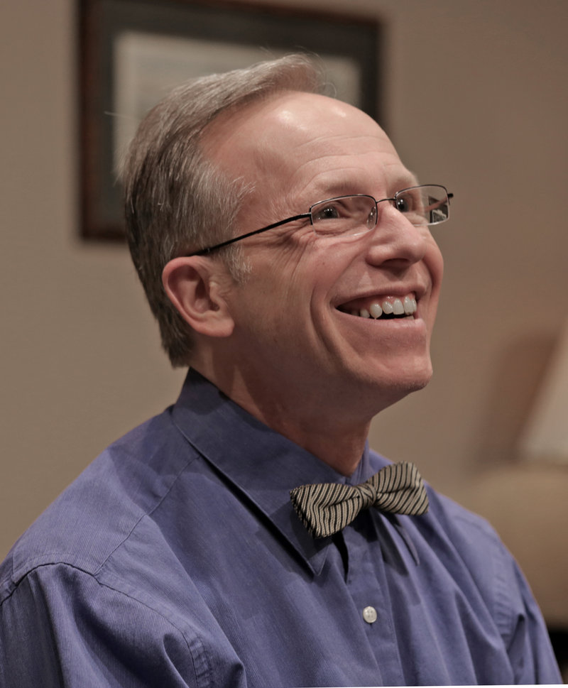 """Brian P. Allen as Eddie in the Good Theater production of A.R. Gurney's """"Ancestral Voices,"""" continuing through April 14 at the St. Lawrence Arts Center in Portland."""