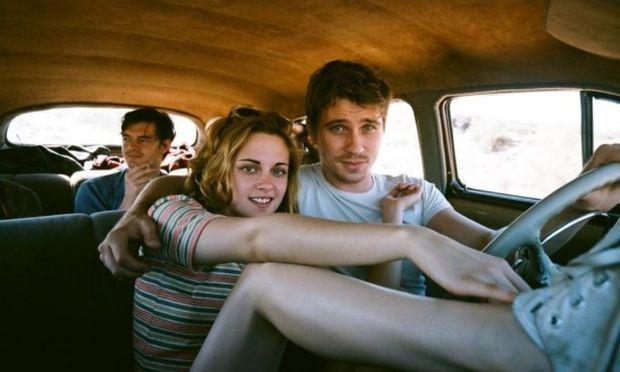 """Kristen Stewart, Garrett Hedlund and Sam Riley, rear, in """"On the Road."""""""