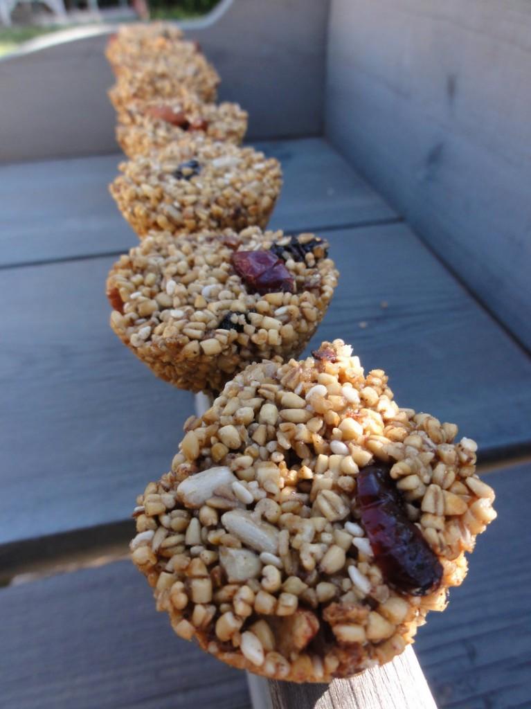 Finished granola rounds