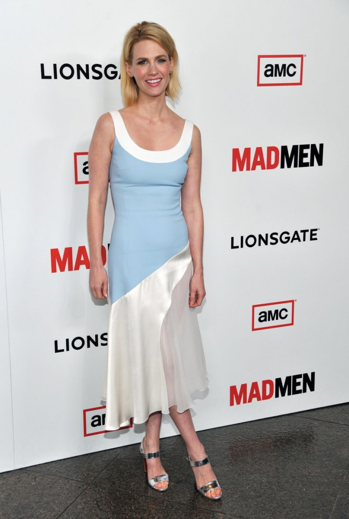 """January Jones of AMC's """"Mad Men"""" tops many best- and worst-dressed lists."""