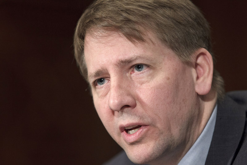 Nobody questions the ability of Richard Cordray, above, to lead a new agency designed to look out for consumers, but Susan Collins and 42 other Republican senators are using a quirk in Senate rules to hold up a vote on his nomination.