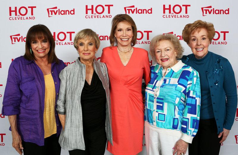 Actresses Valerie Harper, Cloris Leachman, Mary Tyler Moore, Betty White and Georgia Engel reunite last week in Los Angeles.