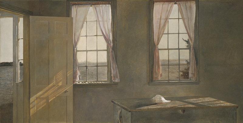 "Andrew Wyeth's ""Her Room,"" 1963, tempera."
