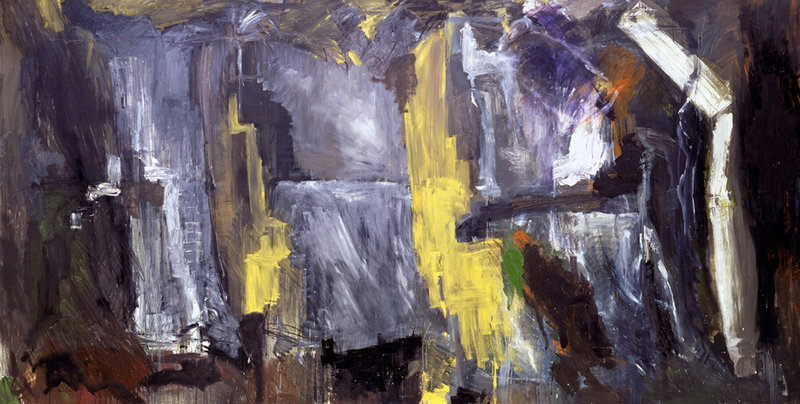 """""""Earthquake"""" by Per Kirkeby, oil on canvas."""