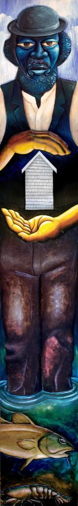 """Malaga Man"" by Daniel Minter, from ""Go Figure"""