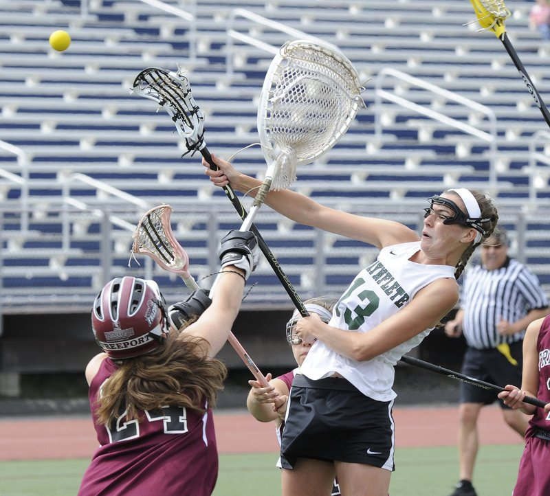 Sadie Cole helped lead Waynflete to the Class B state championship last year – the school's ninth title since lacrosse became a sanctioned sport in Maine in 1998.