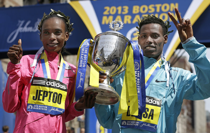 Real champions like Rita Jeptoo of Kenya and Lelisa Desisa of Ethiopia, the top woman and man to finish the Boston Marathon, are accustomed to playing in pain, and a shaken nation will have to do the same in the aftermath of Monday's bombing.