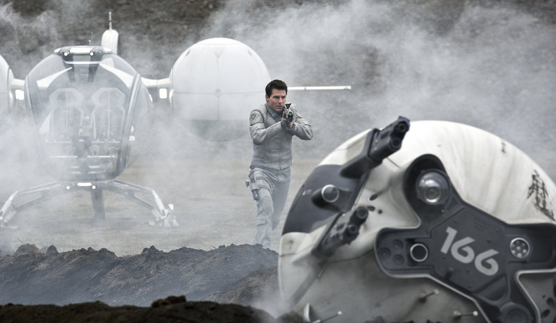 """Tom Cruise in a scene from the sci-fi thriller """"Oblivion."""""""