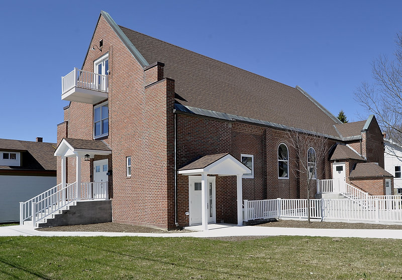 The owners of the renovated church on Ocean Avenue retained some of the building's original features.