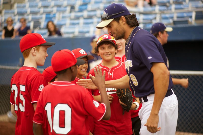 Scott Elrod plays a big-league player who has to coach Little League while in recovery from alcoholism in