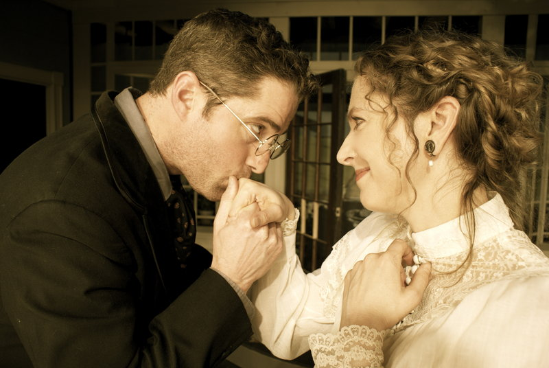 Brian Chamberlain as Winford Johnston and Jennifer Porter as Mary Cassatt star in