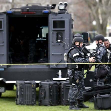Bob Bonina, the father of Pete Ruiz's fiancee, was on the SWAT team that tracked down Dzhokhar Tsarnaev on Friday in Watertown, Mass.