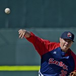 Friday was an eventful day for Sea Dogs reliever Pete Ruiz, who got the final three outs of a 12-1 win over the New Britain Rock Cats while waiting for news about the manhunt for a Boston Marathon bombing suspect. Ruiz had a personal connection to the manhunt – his fiancee's father was part of the search team.
