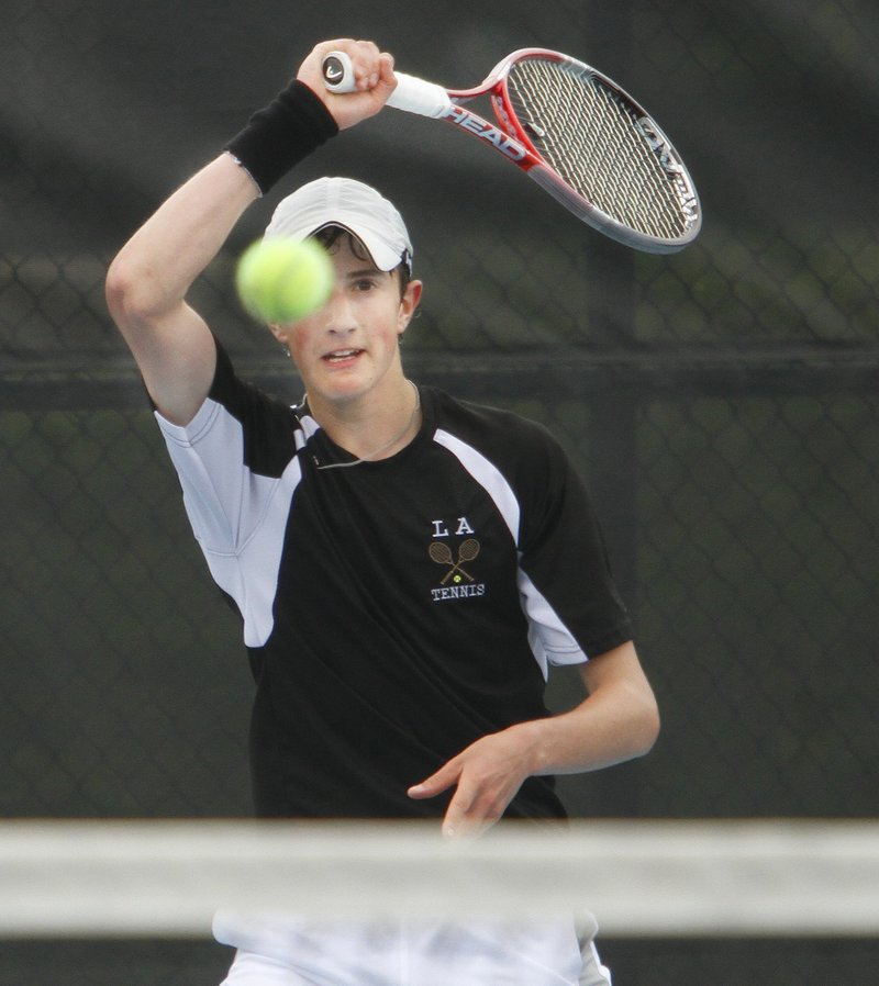 Jordan Friedland of Lincoln Academy won three-set matches in the semifinals and finals last year to capture the state singles title.