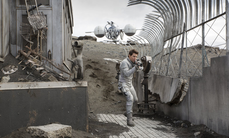 """""""Oblivion"""" stars Tom Cruise as a machine repairman who gets ambushed in the wastelands of Earth after a war with aliens."""
