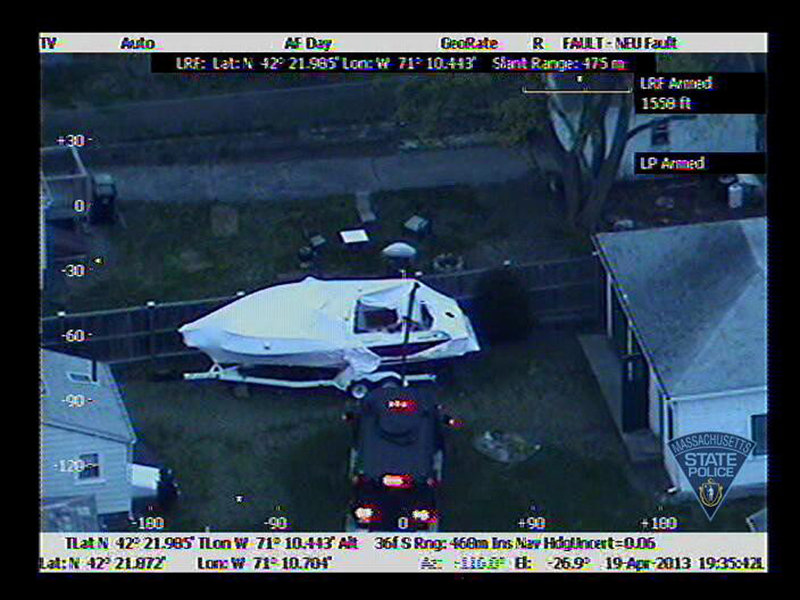 Upon noticing that the tarp on his boat was askew, a Watertown man found the wounded Dzhokhar Tsarnaev hiding below. Police used thermal detection to verify his presence, and he was arrested after a standoff marked by more gunfire.
