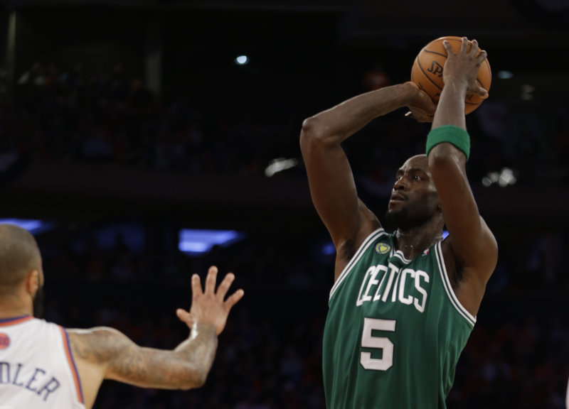 Kevin Garnett scored eight points in Boston's playoff loss to the Knicks on Saturday, shooting 4 for 12 from the field.
