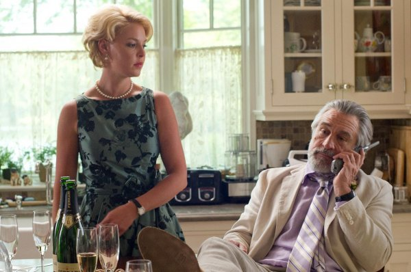 """Katherine Heigl and Robert De Niro in a scene from """"The Big Wedding."""" Diane Keaton, Amanda Seyfried, Topher Grace, Susan Sarandon and Robin Williams also star in the comedy opening Friday."""