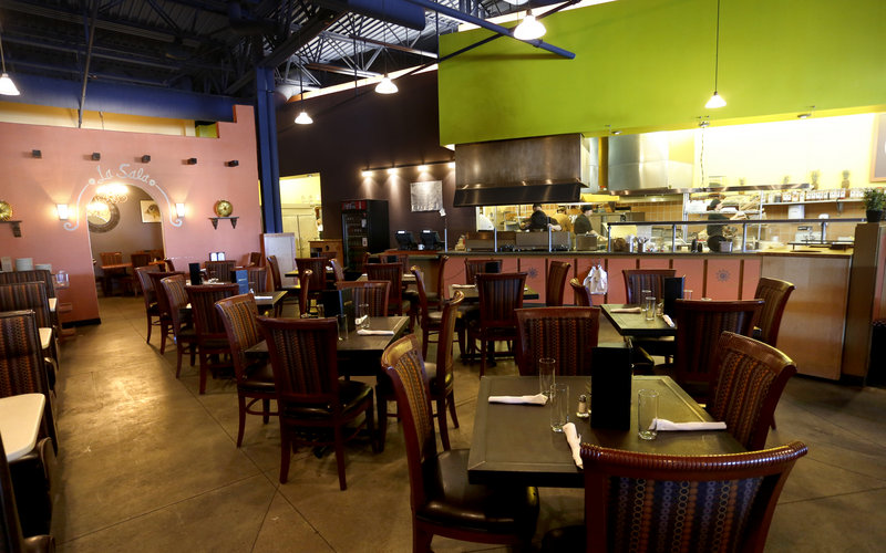Bueno Loco has taken over the space in a Route 1 strip mall in Falmouth that was once home to O'Naturals. It now has a prominent bar and features colors of lime, orange and yellow.