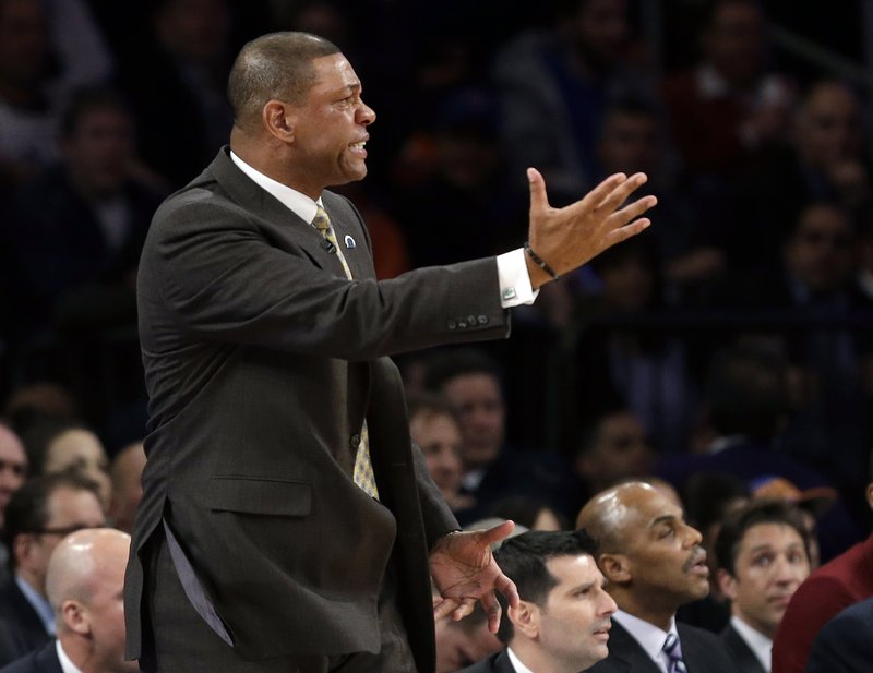 Coach Doc Rivers was fined for his comments about the officiating following Tuesday's 87-71 loss to New York that put the Celtics in an 0-2 hole. Game 3 is Friday in Boston.