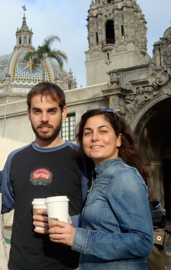 Dan and Kate Suski pose for a photo while vacationing in San Diego in 2009. The brother and sister are recovering on the eastern Caribbean island of St. Lucia after their boat sank on Sunday, forcing them to swim almost 14 hours to reach land.